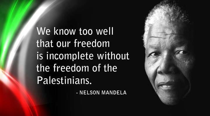 Nelson Mandela Palestinians