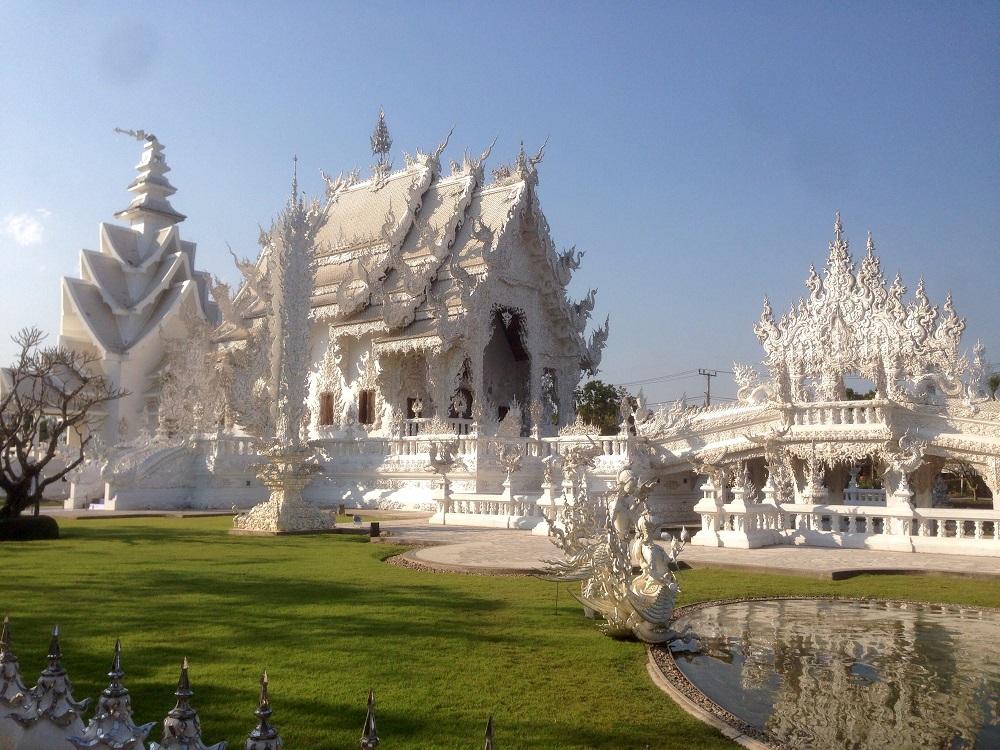 Wat Rong Khun, det hvide tempel i Chiang Rai