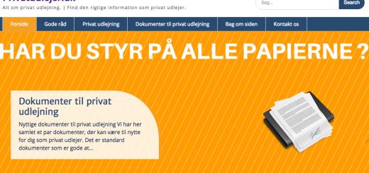 Privatudlejer.dk - find alt hvad du skal bruge til privat udlejning.