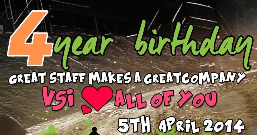 VSI Groups 4 års fødselsdag