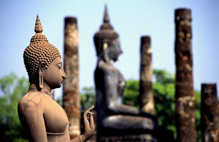 Kort over Thailand