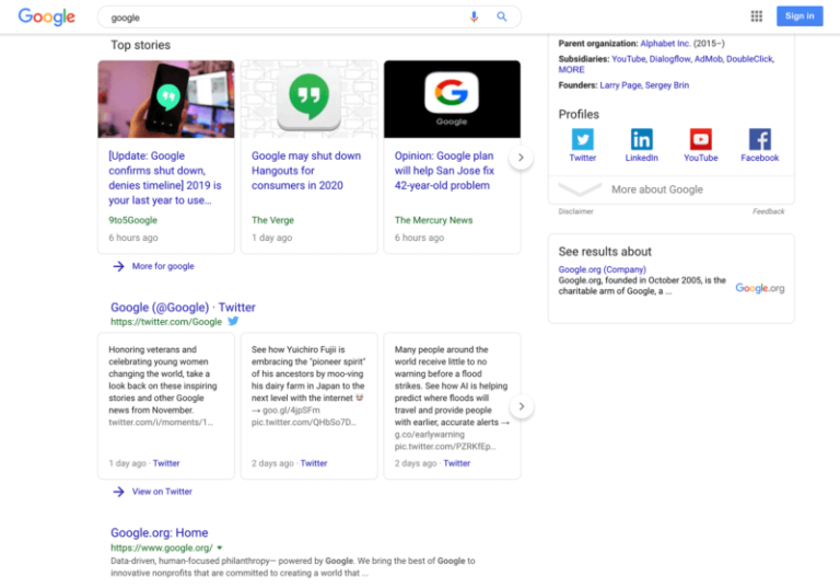 Read more about the article Sticky søgebar hos Google?